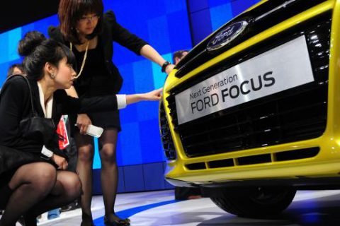 Ford sales in China: about 500,000 units in 2012