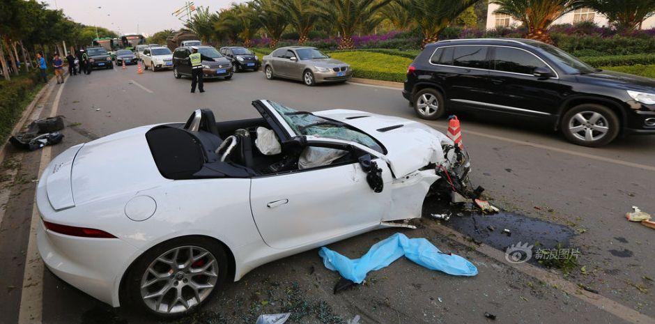 Jaguar Accident In Kunming City Wautom Worldautomobile China