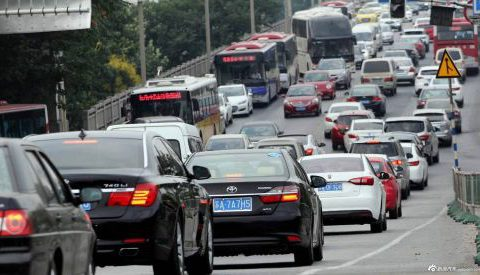 Traffic in China around Chinese Moon Festival 2016.09.15