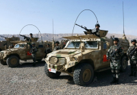 Chinese PLA armored vehicles in Kyrgyzstan for joint training
