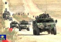 Armored vehicles in Chinese military games in Inner Mongolia