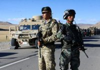 Chinese military convoy in SCO joint anti-terror military exercise
