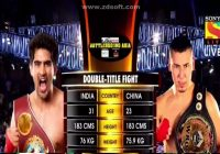 Vijender Singh vs Zulpikar Maimaitiali's pro boxing full match in HD