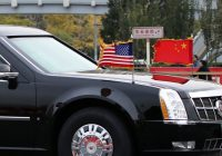 American president Trumps car fleet in China