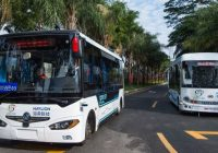 Automatic driving busses entering service in China Shenzhen