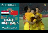 China U23 3:0 Syria U23 Asian Games 2018