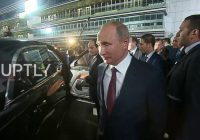 Russian President Vladimir Putin and his Egyptian counterpart Abdel Fattah el-Sisi took a spin around Sochi's Formula 1 circuit