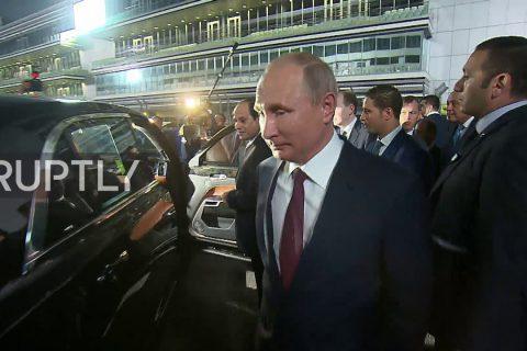 Russian President Vladimir Putin and his Egyptian counterpart Abdel Fattah el-Sisi took a spin around Sochi's Formula 1 circuit
