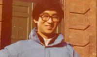 [80年代] 哈佛新生冯奚乔在物理系 Jefferson Lab 楼前(1981年)