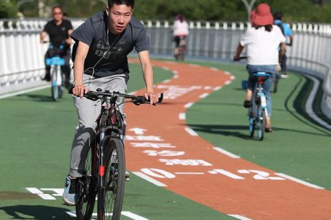 Beijing opens bicycle-only expressway