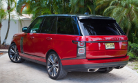 The new 2019 China Red Land Rover Range Rover SV