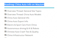 [menu] Roadmap China Auto Info on Wautom