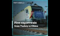 First export train from Turkey to China