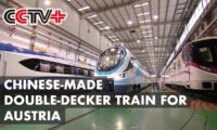 Chinese-made Double-decker Train for Austria Rolls Off Production Line
