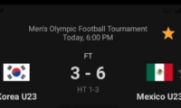 [2021.07.31] U23 Korea 3:6 Mexico
