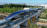 World's first 600km/h high-speed maglev train