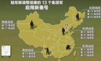 The 5 theater commands of Chinese army